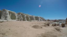 360 deg pan of sandstone cliffs' and hoodoos in southern Utah Footage