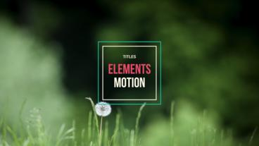 25 Titles Animated After Effects Template