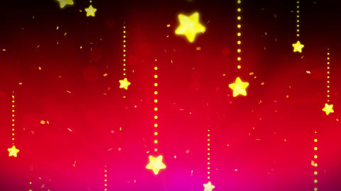 Bright and shining stars,CG Animation,Red,Loop CG動画素材