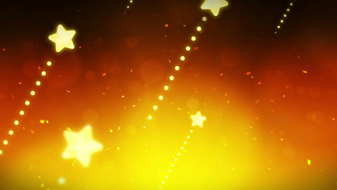 Bright and shining stars,CG Animation,Yellow,Loop CG動画素材
