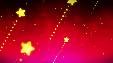 Bright and shining stars,CG Animation,Red,Loop Videos animados