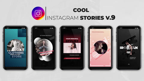 Cool Instagram Stories v 9 After Effects Template