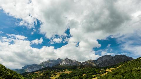 "Mountainscape from ""Desfiladero de La Hermida"" in Picos de Europa National Park, Spain Live Action"