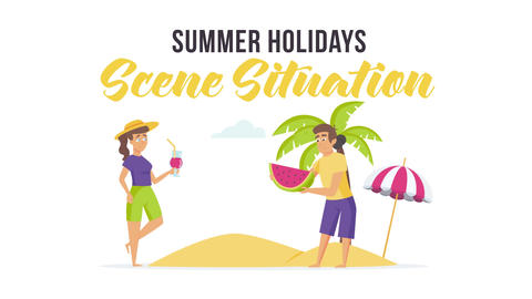 Summer holidays - Scene Situation After Effects Template