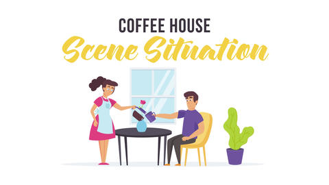 Coffee house - Scene Situation After Effects Template