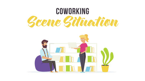 Coworking - Scene Situation After Effects Template