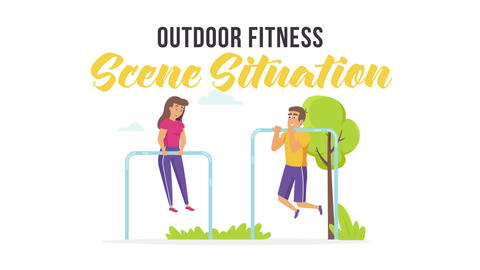 Outdoor fitness - Scene Situation After Effects Template