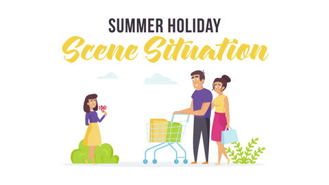 Summer holiday - Scene Situation After Effects Template