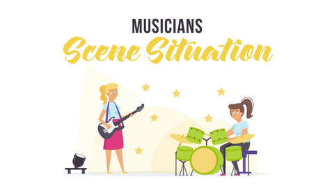 Musicians - Scene Situation After Effects Template