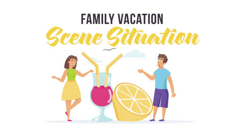 Family vacation - Scene Situation After Effects Template