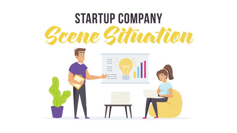 Startup company - Scene Situation After Effects Template