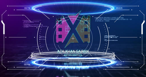 HUD Portal Logo Reveal After Effects Template