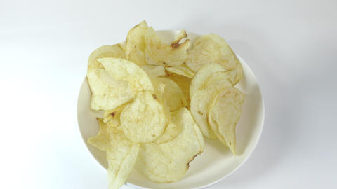 Potato chips salty025 Live Action