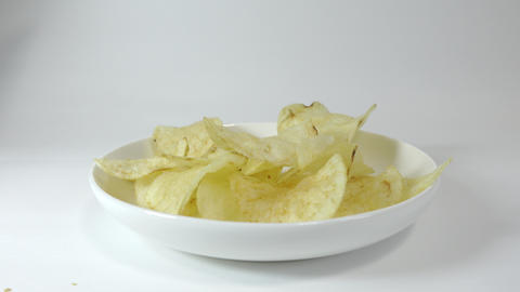 Potato chips salty030 Live Action