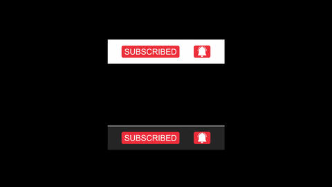 YouTube Subscribe Button with 4K H-264 Alpha Matte Channel Animation
