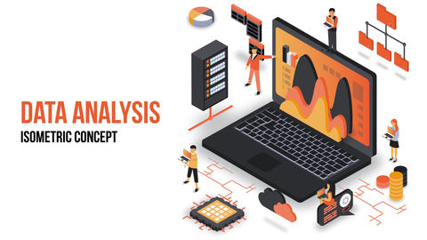 Data Analysis - Isometric Concept After Effects Template