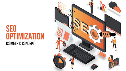 Seo Optimization - Isometric Concept After Effects Template