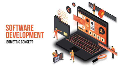 Software Development - Isometric Concept After Effects Template