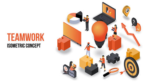 Teamwork - Isometric Concept After Effects Template