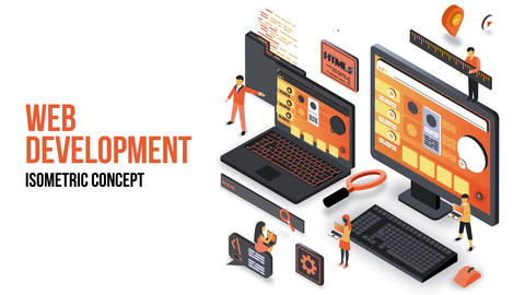 Web Development - Isometric Concept After Effects Template