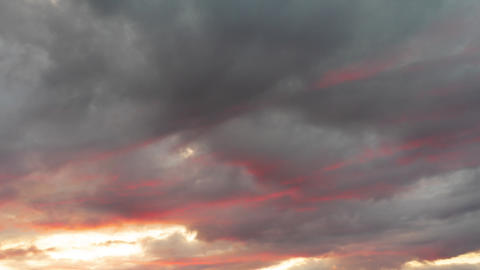 Beautiful nature time lapse storm clouds at sunset time. Horrible weather Live Action