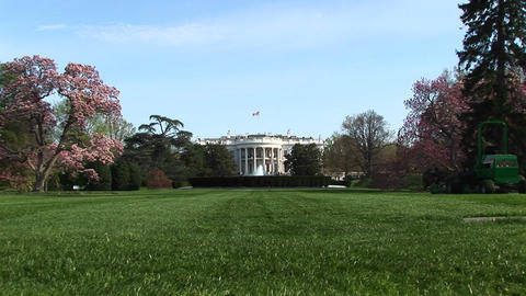 A long shot of the White House and its beautifully... Stock Video Footage