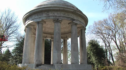The camera slowly pans-up the World War I Memorial for... Stock Video Footage