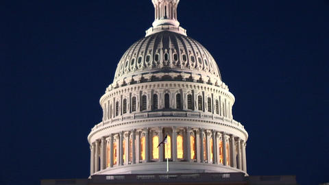 The camera slowly pans up the Capitol Building to the... Stock Video Footage