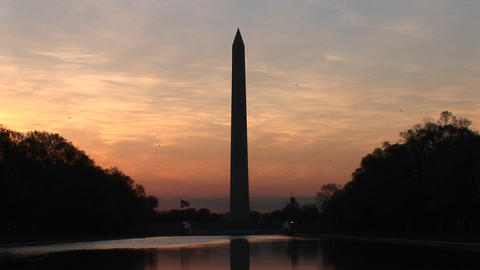 Colors in the sky intensify around the Washington... Stock Video Footage