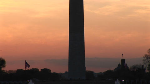 The Washington Monument reflects in the Reflecting Pool Stock Video Footage