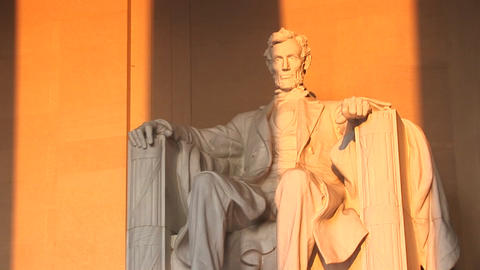 Columns of the Lincoln Memorial Building cast long... Stock Video Footage