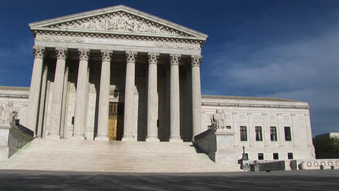 A pan-right along the U.S. Supreme Court Building and grounds Footage