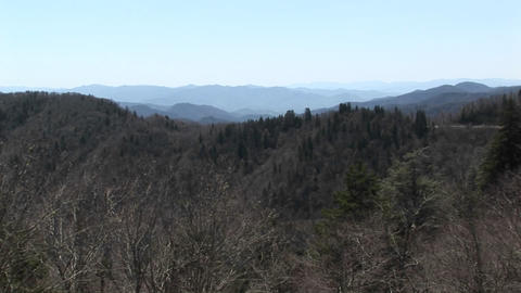 Seemingly endless mountain ranges stretch to the horizon... Stock Video Footage