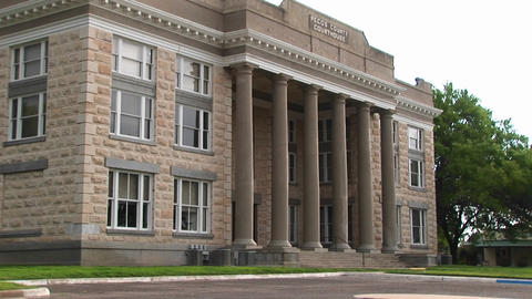 Medium-shot of a Courthouse Stock Video Footage