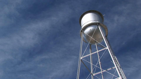 Medium shot of a water tower Footage