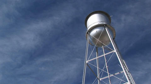 Medium shot of a water tower Stock Video Footage
