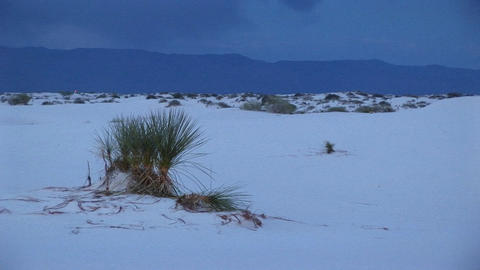 The White Sands National Monument in New Mexico Footage