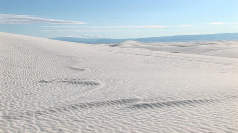 Long-shot of sand dunes at White Sands National Monument in New Mexico Footage