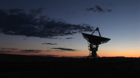 Pan-right of an array at the National Radio Astronomy... Stock Video Footage
