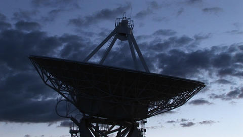 Close-up of a dish of an array at the National Radio Astronomy Observatory in New Mexico Footage