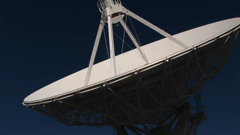 Pan-up of a satellite dish at the National Radio... Stock Video Footage