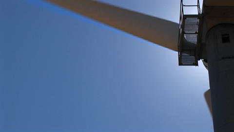 Close-up of the rotor and nacelle of a wind turbine at... Stock Video Footage