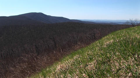Long shot of the Blue Ridge Mountains Stock Video Footage