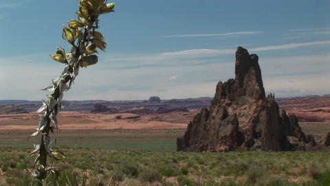Long shot of Monument Valley Tribal Park in Arizona Stock Video Footage