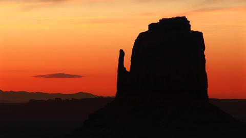 Medium shot of Right Mitten in Monument Valley, Arizona Footage