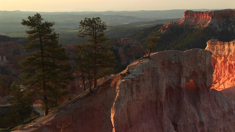 Medium shot of rock formations Bryce Canyon National Park... Stock Video Footage