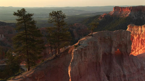 Medium shot of rock formations Bryce Canyon National Park in Utah Footage