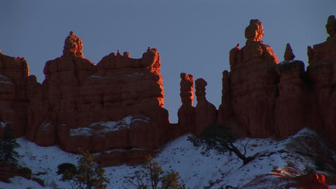 Medium-shot of rock formations in Bryce Canyon National... Stock Video Footage