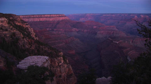 Jib-up of the Grand Canyon Stock Video Footage