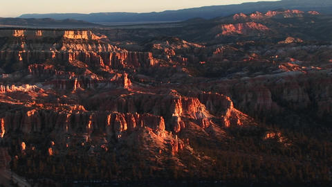 A sunset shot at Bryce National Park Stock Video Footage